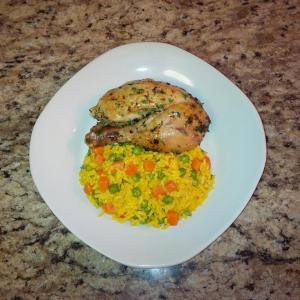 organic-herb-roasted-chicken-with-a-yellow-vegetable-rice-medley