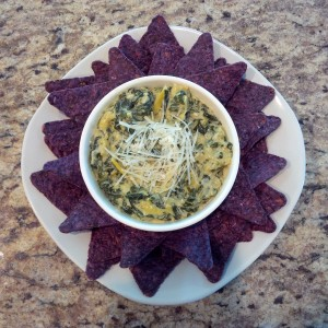 spinach-artichoke-dip-with-blue-corn-chips
