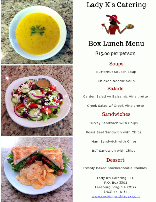 LKC - Box Lunch Menu